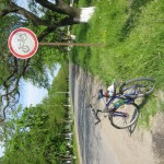 Оппа. Оказывется в Днестровске есть такой знак. Зато рядом - велосипедная дорожка к лиману.