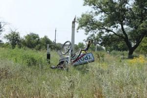 Велосипед и столб