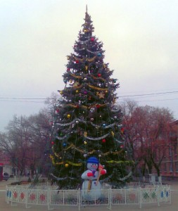 Новогодняя ёлка в городе Бендеры