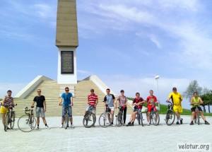 Велосипедисты на Кицканском плацдарме