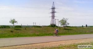 Встретили тренирующихся велоспортсменов