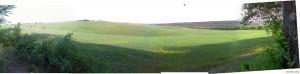 Панорама: поля перед селом Телица