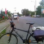 Велосипед на кругу Два столба
