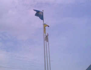 Голубой флаг ильичёвского пляжа