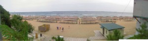 Панорама ильичёвского пляжа