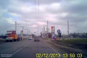 Ямы на дорогах возле въезда в Тирасполь, напротив заправки Шерифа
