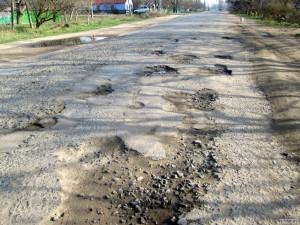 Ямы на дороге в Кучурганах