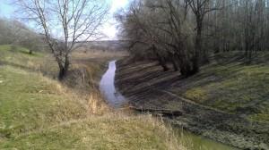 Река Ботна у впадания в реки Днестр